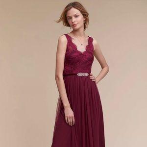 BHLDN Cranberry Samantha Dress